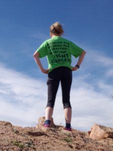 Fischer atop a mountain