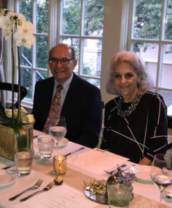 Dianne M. Sharr (B.A., '67) and her husband, Seth