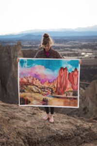 Sheila Dunn standing in canyon landscape