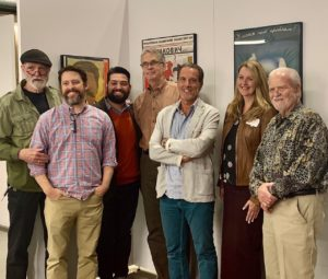 Miriello with current and former CSU graphic art professors
