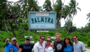 Beauregard with colleagues on Palmyra Atoll