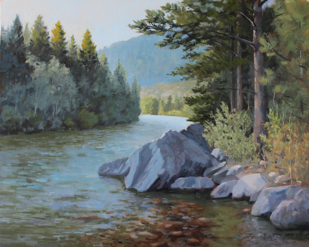 Poudre River painting