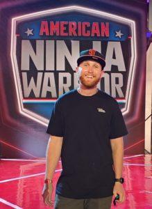 Duncan Richards on the set of American Ninja Warrior.