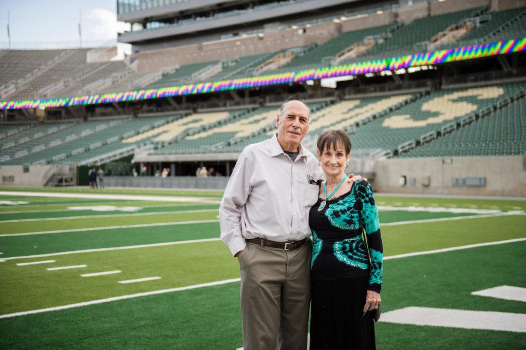 Len and Jan at Canvas Stadium