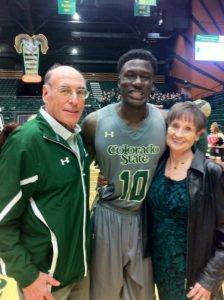 Len and Jan with Joe De Ciman at Moby Arena