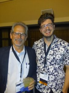 Jared with Michael Story (B.S.,'83; Ph.D. '89) at the 2018 Radiation Research Society Conference in Chicago.
