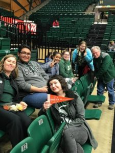 Group of students at Moby Arena