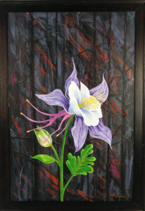 painting of a columbine