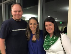 Colorosa and her husband with Ram basketball legend Becky Hammon