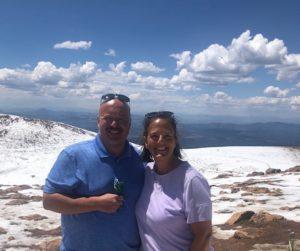 Sean and Lynn on Pikes Peak, summer 2020