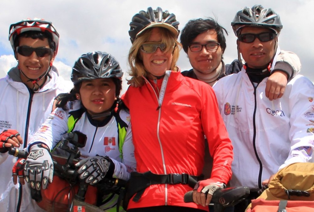 Kate Rawls with fellow bikers