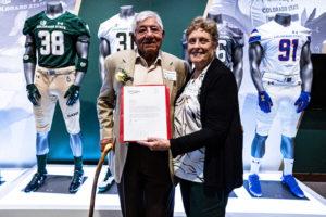 Joe Martinez receiving award