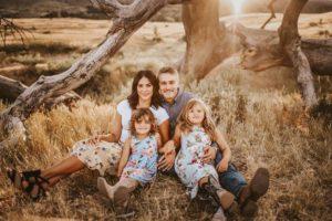 Danielle Trotta family portrait outside